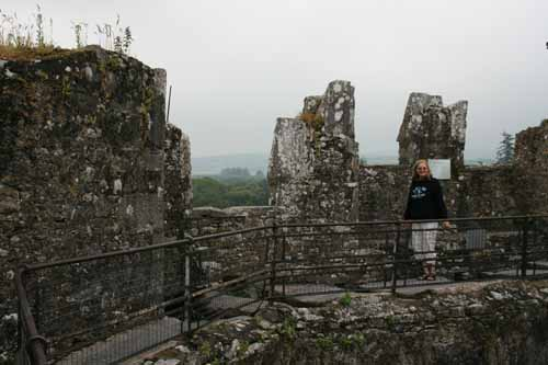 The parapet area of Blarney Castle