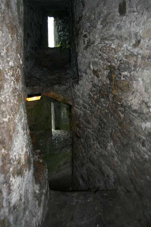 Servants stairs in Blarney Castle