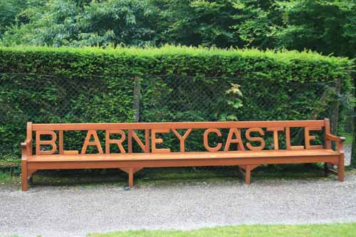 Carved Blarney Castle Bench