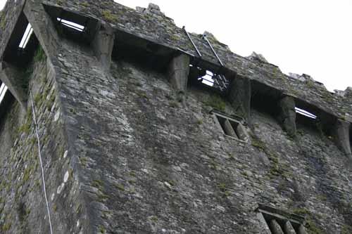 bars prevent you from falling through as you kiss the Blarney Stone