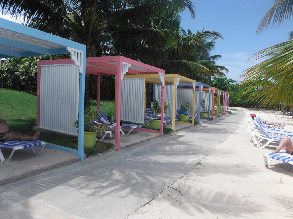 Relaxing cabanas no extra charge