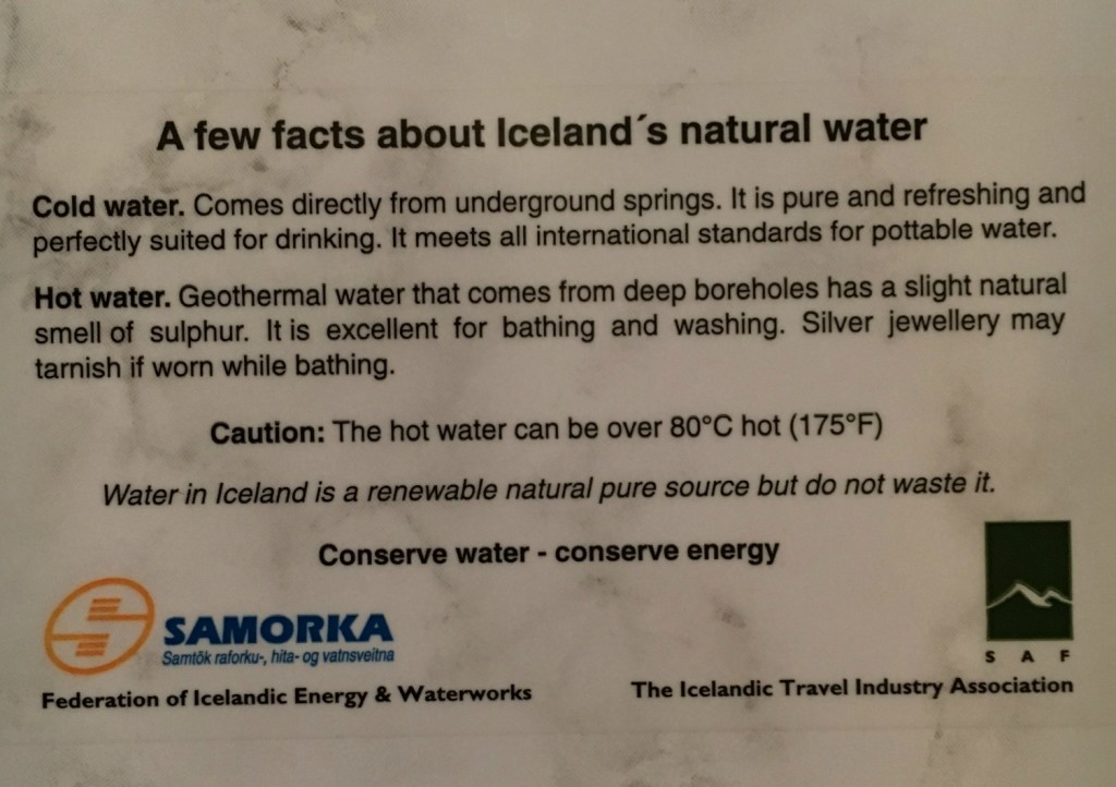 Cold water is natural spring water while hot water is from the natural hotsprings